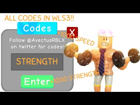 2019 Update Codes In Weight Lifting Simulator 3 - avectusrblx all codes