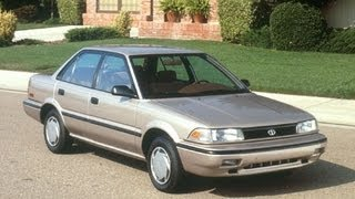 1991 Toyota Corolla Start Up and Review 1.6 L 4-Cylinder