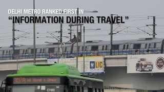 Delhi Metro ranked first in