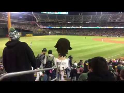 """Ricky Henderson"" Visits The Oakland A's Fans At Rangers Game"