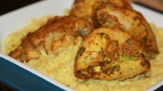 Poulet à la Moutarde & Riz Basmati - Grilled Marinated Chicken & Basmati Rice - دجاج بالموطارد