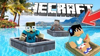 CARRERA DE BOTES EN CAIDA (Intenta no CHOCAR) MINECRAFT WATER SLIDE