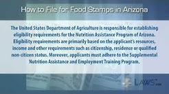 How to File for Food Stamps Arizona