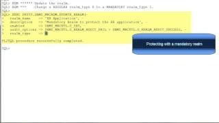 Using Regular and Mandatory Realms in Oracle Database Vault