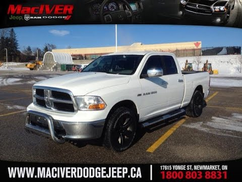 2011 White Ram 1500 Quad Cab SLT Newmarket Ontario | MacIver Dodge Jeep - YouTube
