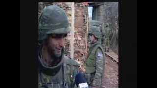 Greek soldiers and Serbians civilians in Kosovo