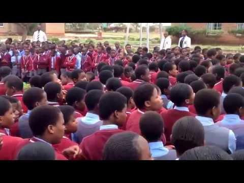 At Assembly point... Mtshabezi High School