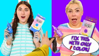 USE ONLY ONE COLOR TO FIX THIS SLIME CHALLENGE! Slimeatory #650