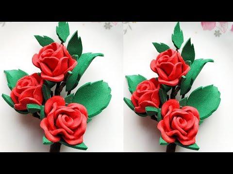 Diy Foam Sheet Flowers \Easy Foam rose | Foam Sheet Flowers Making | Foam Sheet DIY Craft Ideas