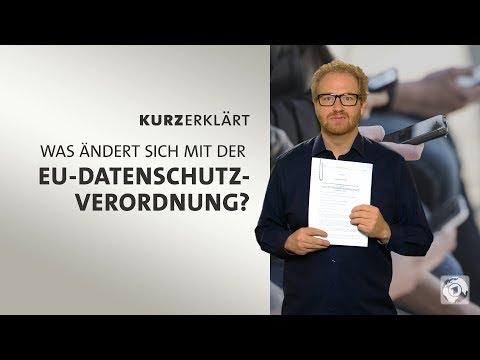 #kurzerklärt: Was ändert sich mit der EU-Datenschutzverordnung?