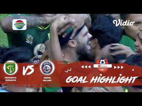 Persebaya (4) vs (1) Arema - Goal Highlights   Shopee Liga 1