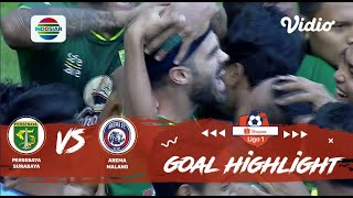 Persebaya (4) vs (1) Arema - Goal Highlights | Shopee Liga 1
