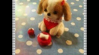 A Wool Felt Shih-tzu Dog(羊毛フェルトのシーズー犬)