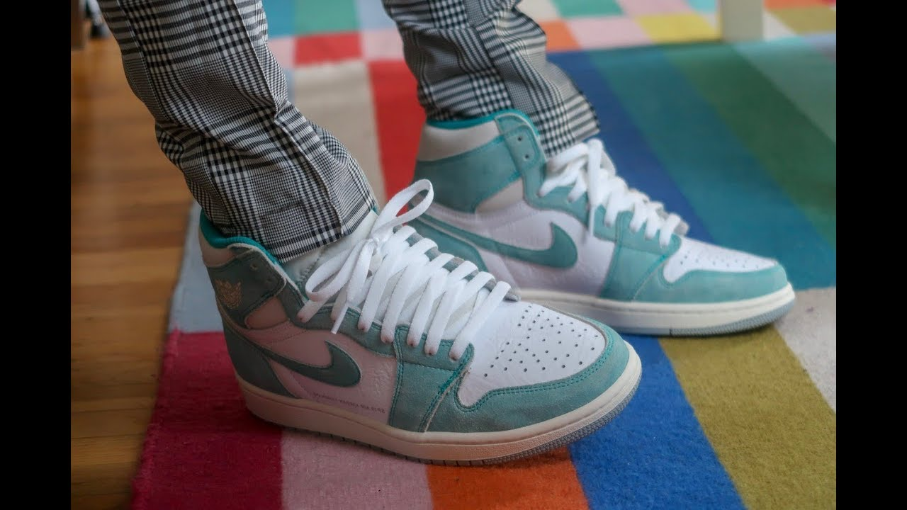 712b1a4fd53 TURBO GREEN AIR JORDAN 1 PICK UP! REALEST ON FOOT ON YOUTUBE - YouTube