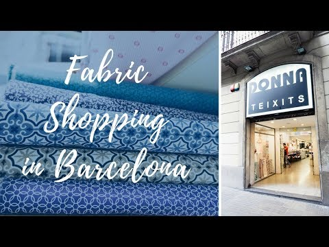 Lots of bouclé in Donna Teixits ✁ FABRIC SHOPPING IN BARCELONA