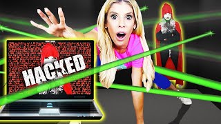 Trapped by SPY HACKER ESCAPE ROOM for 24 Hours! (Game Master Battle Royale) | Rebecca Zamolo