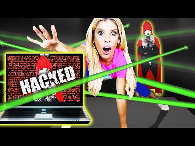 Trapped by SPY HACKER ESCAPE ROOM for 24 Hours! (Game Master Battle Royale)   Rebecca Zamolo