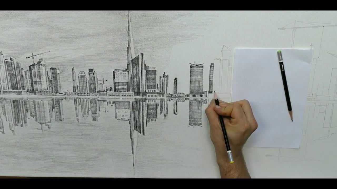 Дубай рисунок карандашом сколько стоит авиабилет в дубай