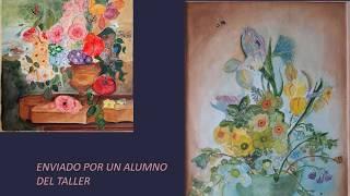 Taller Breve de acuarela en la Universidad Popular de Logroño. Profesora Paloma Sáenz de Cabezón.