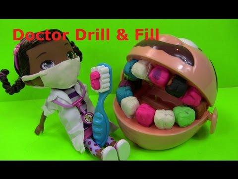"""Doctor Drill """"N"""" Fill Playset -  Bác Sĩ Thú Nhồi Bông Khám Răng """" Doctor Drill &Fill """""""