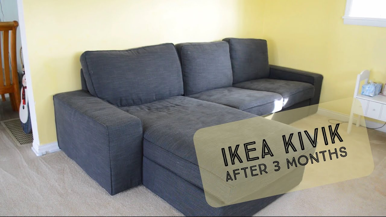 Our Ikea Kivik After 3 Months Youtube