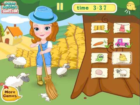 Play Slacking Game Princess Sofia Farm Challenge from Colordesigngames.com