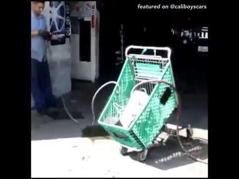 bouncing shopping cart