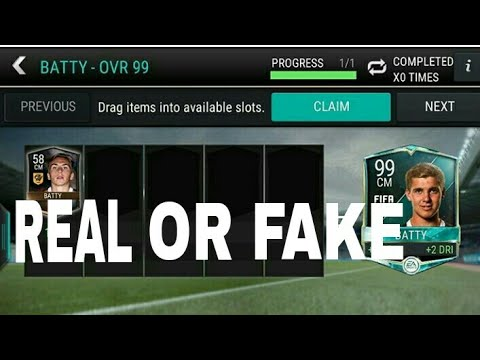 BATTY 99 FIFA MOBILE CLAIMED REAL OR FAKE!??