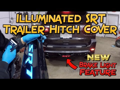 Custom Jeep Grand Cherokee >> Jeep SRT Hitch Cover w/ Brake Light Mod - YouTube