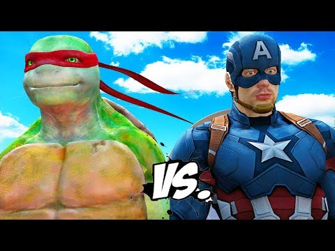 CAPTAIN AMERICA VS RAPHAEL (Teenage Mutant Ninja Turtles)