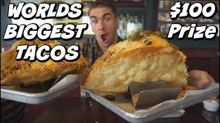 MASSIVE 8LB TACO CHALLENGE - Faster Than Randy Santel? - ManVsFood - World's Biggest Taco's?