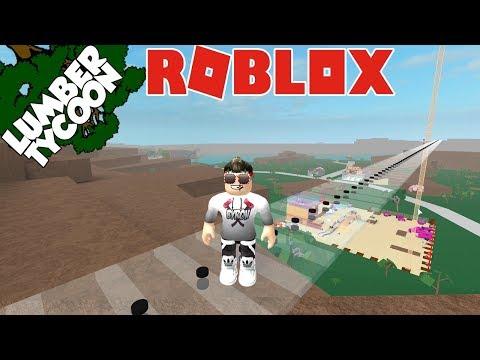 Roblox- INDO PRA MADEIRA DE OURO COM A PONTE DE VIDRO ( Lumber Tycoon 2 )