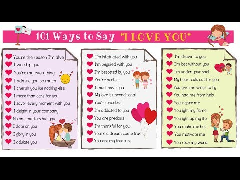 Love Messages: 101 Cute Ways To Say I LOVE YOU In English