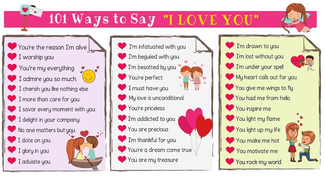 better ways to say i love you