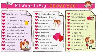 Love Messages: 101 Cute Ways To Say I LOVE YOU in English screenshot 1