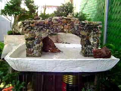 Fente De Agua Hecha De Piedras Y Con Base De Cemento Youtube