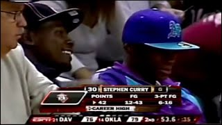 Rare Steph Curry in College, Kevin Durant Watching Him Play!