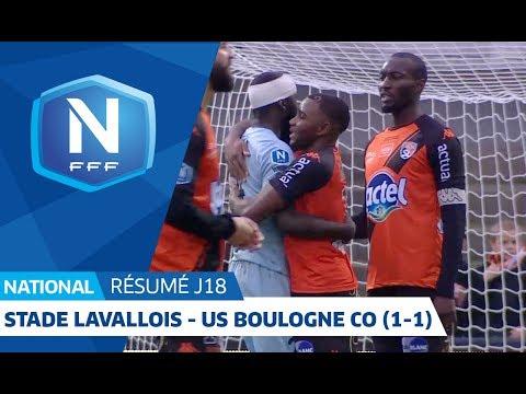 J18 : Stade Lavallois - US Boulogne CO (1-1), le résumé I National FFF 2018 2019