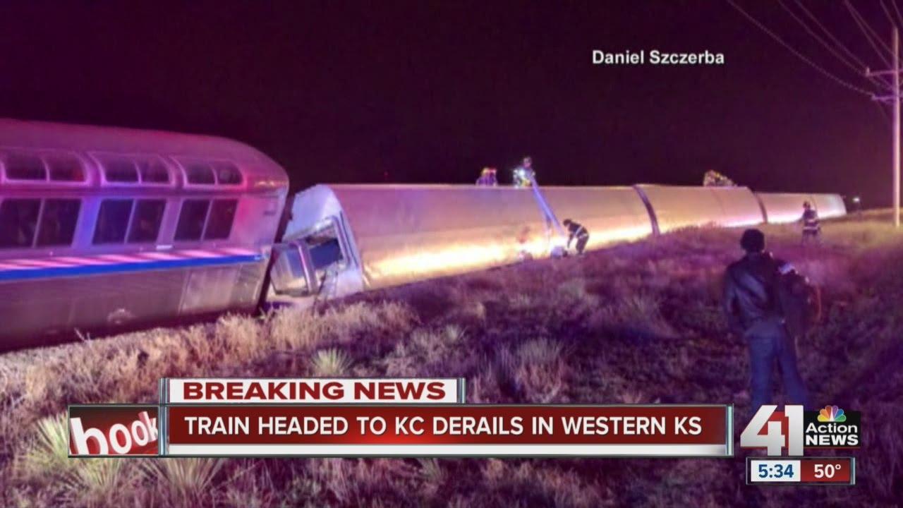 Amtrak train derails in southwest Kansas; injuries reported