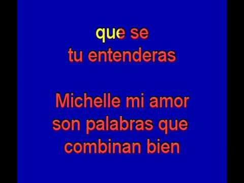 Michelle  -  The Beatles -  karaoke   Tony Ginzo