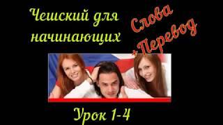 Чешский язык для начинающих урок 1- 4  с Словами и переводом
