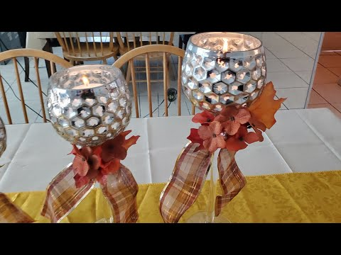 (Thanksgiving) or any Holiday candleholder centerpiece