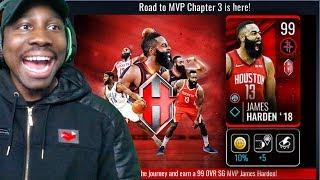 EXCLUSIVE 99 OVR ROAD TO MVP JAMES HARDEN! NBA Live Mobile 19 Season 3 Ep. 52