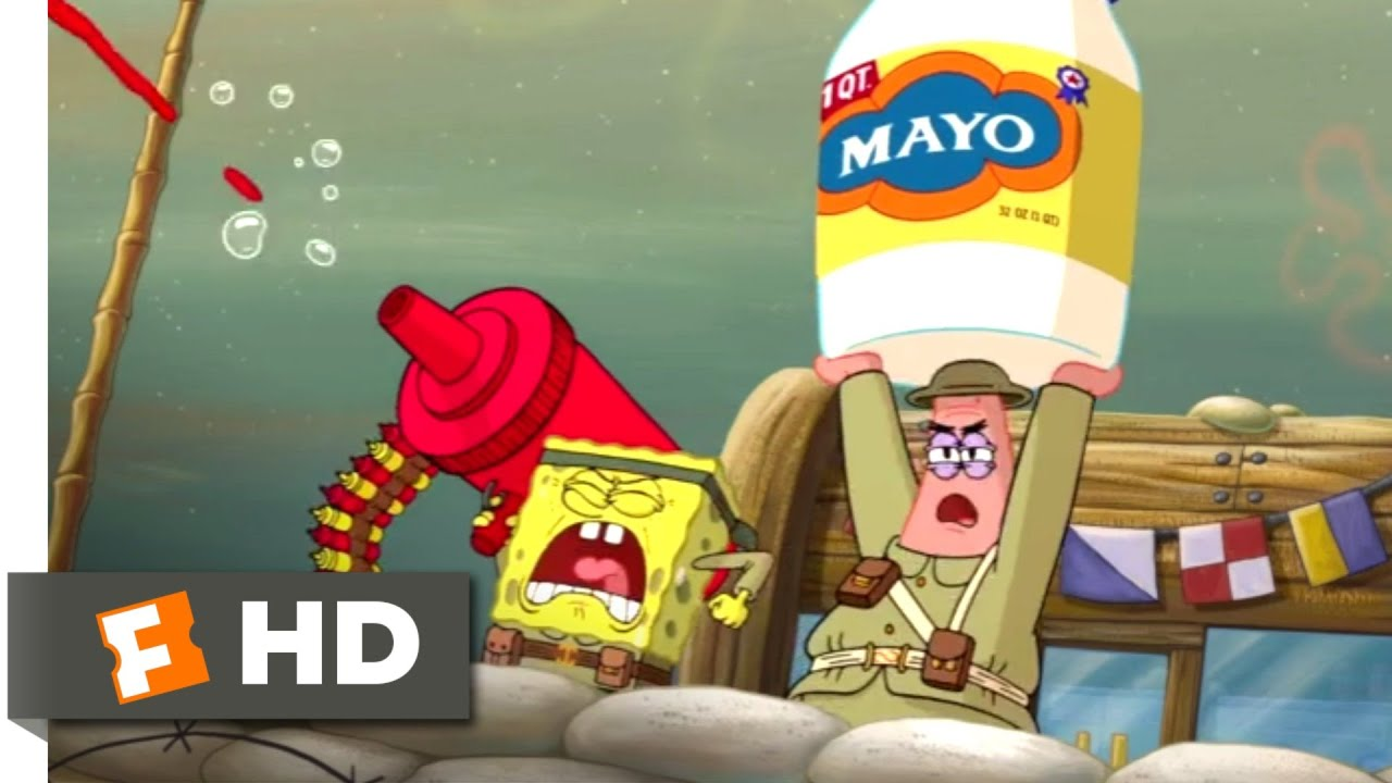 Download The SpongeBob Movie: Sponge Out of Water (2015) - Food Fight Scene (1/10) | Movieclips