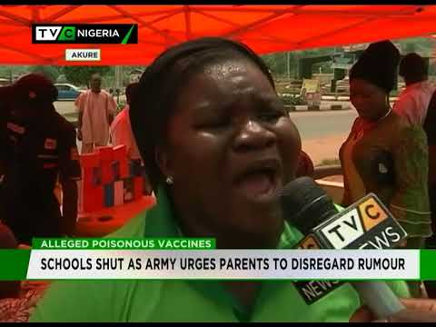 Alleged Poisonous Vaccines | Schools Closed Early As Army Urges Parents To Disregard Rumour