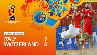 Italy v Switzerland [Highlights] - FIFA Beach Soccer World Cup Paraguay 2019™