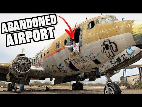Exploring Abandoned Airport Graveyard! Haunted War Planes!!
