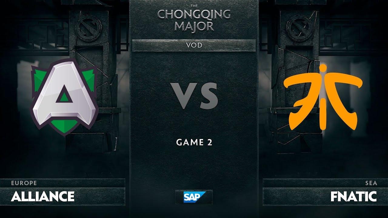 [EN] Alliance vs Fnatic, Game 2, The Chongqing Major Group D