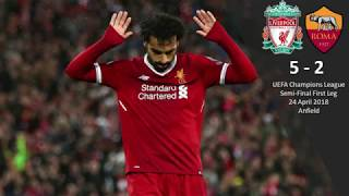 Liverpool 5-2 Roma   UCL Semi-Final Match Review   Roma smashed but Lovren helps to give Roma hope