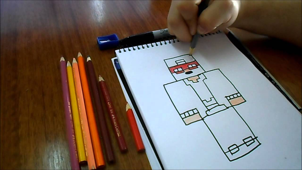 Imagenes Para Colorear De Maicraf: Dibujando Skin JoseDestroyer / Minecraft